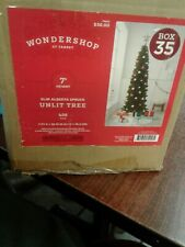 OPEN BOX AND CHECKED WONDERSHOP ALBERTA 7FT SPRUCE ARTIFICIAL CHRISTMAS UNLIT