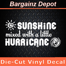 Vinyl Decal.. SUNSHINE MIXED WITH A LITTLE HURRICANE.. Funny Car Laptop Sticker