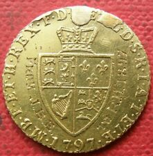 More details for g.b. 1797 king george 111 gold half guinea coin. in very fine grade