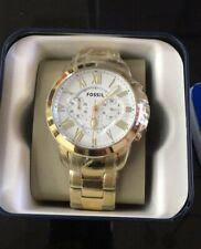 Fossil Men's Grant Chronograph Stainless Steel Watch FS4814