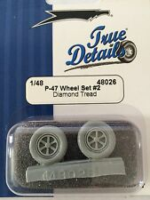 True Details P-47 Resin Open Spoke Diamond Tread Wheel Set #2 TD48026