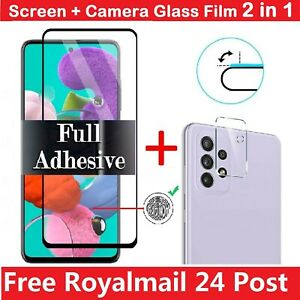For Samsung S21 A12 A21s A32 A42 A52 5G Tempered Glass Screen Camera Protector
