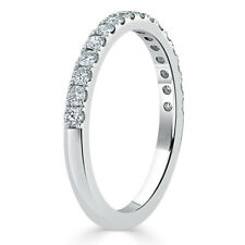 Platinum 950 Half Eternity Brilliant Diamond Weddding Band
