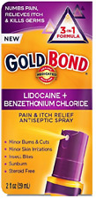 Gold Bond Pain & Itch Relief Antiseptic Spray With 4% Lidocaine