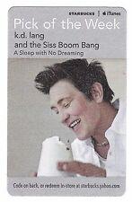 Starbucks Music Card (Expired) - Canadian Singer Songwriter K. D. Lang
