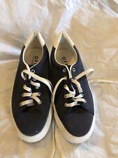 Blue & White Office London Lace Up PlatForm Plimsolls Trainers Shoes,UK 6