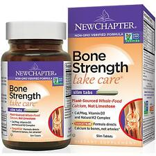 New Chapter Bone Strength 120 Slim Tabs Plant Source Calcium FREE SHIPPING
