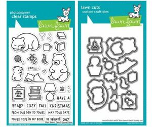 New! Lawn Fawn DEN SWEET DEN Clear Stamp and Die Set LF2409 & LF2410