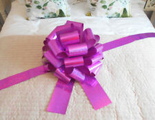 "MEGA BIG CAR BOW (16"") for Cars, Large Birthday & XMAS Gifts - HOLOGRAPHIC PINK"