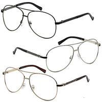 Clear Lens Aviator Gold Silver Black Glasses Fashion Sunglasses Retro Top