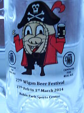 SPECIAL WIGAN  BEER FESTIVAL HALF PINT GLASS  £3.99 POST FREE UK