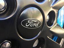 Genuine Ford Alloy Wheel Black Centre Caps x2 Focus RS/Fiesta STline/Mustang