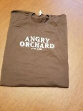 Angry Orchard Hard Apple Cider Brown Short Sleeve TShirt Adult Large Brand New