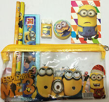 Newest Despicable Me Minion Pencil case Stationary Set Kids Boy Girls Gift