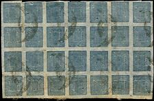 Scott # 7 - 1886 -' Sripech and Crossed Khukris '- Native Wove Paper - Blk of 28