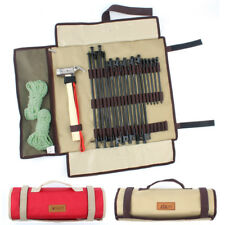 Outdoor Camping Tent Pegs Storage Bag Portable Tool Kit Accessories Folding Carr