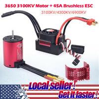 Waterproof 3650 31/4300/6900KV Brushless Motor + 45A ESC Set For 1/10 RC Car CH