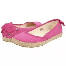 Ugg Pink Canvas Slip On Flats Girls Kids size: 5