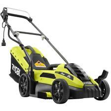 Ryobi 13 in. 11 Amp Corded Electric Walk Behind Bagger Push Lawn Mower Portable
