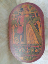 Tony Sarg Nantucket Hand Painted Wooden Bride Box Signed Antique ~ Large Size ~
