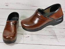 Dansko Professional Clogs Brown Leather Womens EU 38  US 7.5-8 M Slip On