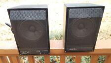 Rare Excellent Pair Recoton W100 Powered 30W Schotz Active Loudspeakers Complete