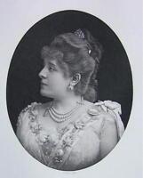 FRENCH ACTRESS Madame Judic - Victorian Era Antique Print
