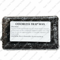 One Pound Black Odorless Trap Wax