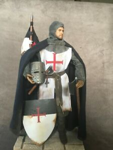 "CUSTOM 12"" CRUSADER KNIGHTS TEMPLAR FIGURE 1/6 SCALE."