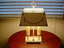 Vintage Tole Painted Metal Lamp / Desk Lamp