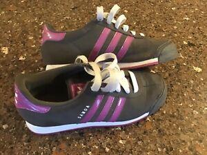 Adidas Samoa Shoes Women's size 7 Gray and Purple
