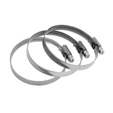 50-70mm x 3 Stainless Steel Band Hose Clamps Worm Drive Jubilee Clips