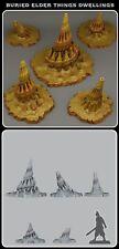 Buried Elder Things Dwellings 40k Terrain Scenery Tabletop Miniatures 28mm