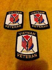3 U.S. Military Vietnam Veteran Army Navy Marines Air Force Uniform Patches New