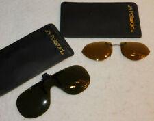 vintage LOT 2 POLAROID LUNETTES clipsable LUNETTE CLIPS glasses BRILLE camera
