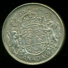 1949 King George VI, Silver Fifty Cent Piece  F131