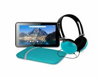 "Ematic 7"" 16GB Tablet with Android 7.1 (Nougat) + Sleeve and Headphones, Teal"