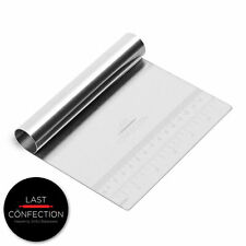 Stainless Steel Pastry Bench Scraper Dough Cutter Divider Pizza, Cake, Cookies