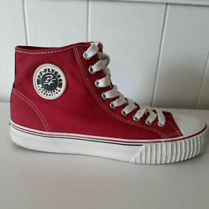 SALE* PF Flyers High Tops Red Sneakers Shoes Mens Sz 9 Womens Sz 10.5 US VGC