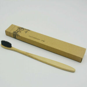 5/10Pcs Bamboo Toothbrush Natural Wooden Handle Soft Hair Tooth Brush Oral Care
