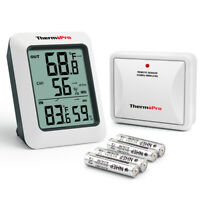 ThermoPro Digital Indoor Outdoor Thermometer Hygrometer Wireless Humidity Meter