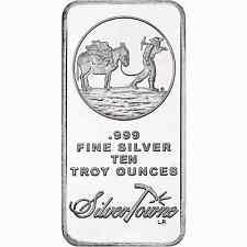 SilverTowne Logo 10oz .999 Fine Silver Bar Sealed NEW