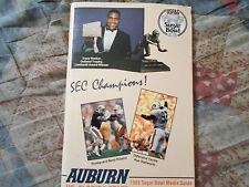 1988 AUBURN TIGERS FOOTBALL MEDIA GUIDE for 1989 SUGAR BOWL Florida State FSU AD