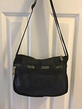 Classic Vtg USA LeSportsac Crossbody Messenger Bag Purse Small black