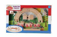 Omni Wooden Toys Design & Paint Create Your Own Style 23 pcs Wooden Train Set