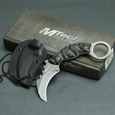 "MTECH 4 1/2"" Overall 440 Stainless G-10 Handle Fixed Blade Neck Knife 2033"