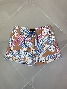 J. Crew Linen Blend Shorts Women's Size 4 Tropical