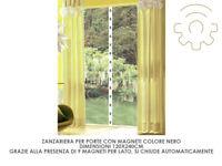 zanzariera con 9 magneti nero cm 120x250 per porte finestre porta
