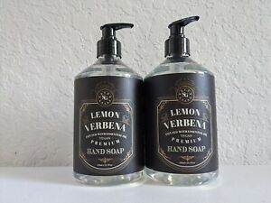 2 Home Body Co Savon Grand LEMON VERBENA Hand Soap Wash Liquid 21.5 oz