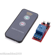Active 1 Channel infrared Switch Relay Driving Module Board+Remote Control I0U8